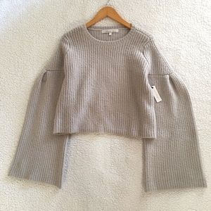 NWT Lovers + Friends ribbed knit Maxine sweater